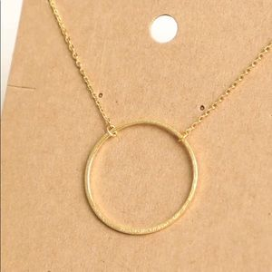 Trendy circle necklace